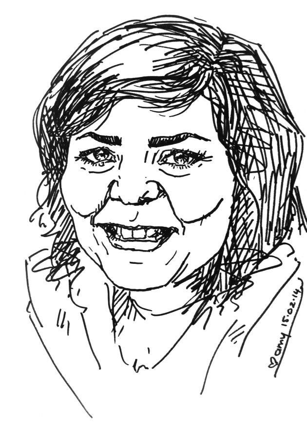 Mo's birthday caricature